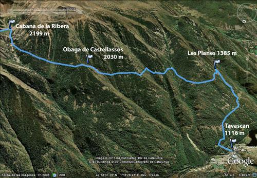 Circuito La Ribera : Etapa trekking la porta del cel